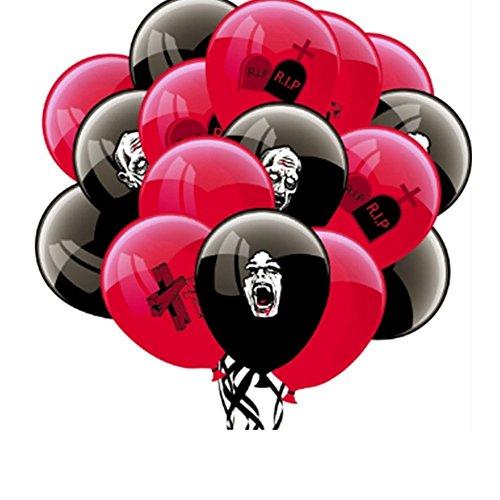 Latex folie ballonnen, KimcHisxXv 16 Stks Scary Cross Grave Zombie Latex ballonnen Halloween Decor partij benodigdheden