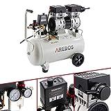 Arebos - Compresor (24 L, 800 W, sin aceite, 54,5 dB/GS)