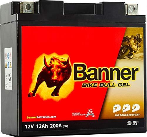 Banner 51221Gel Akku Moto Bike Bull