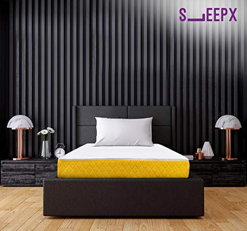 SleepX Apt High Resilience (HR) Foam Mattress - (72x36x6 Inches) with Free Pillow