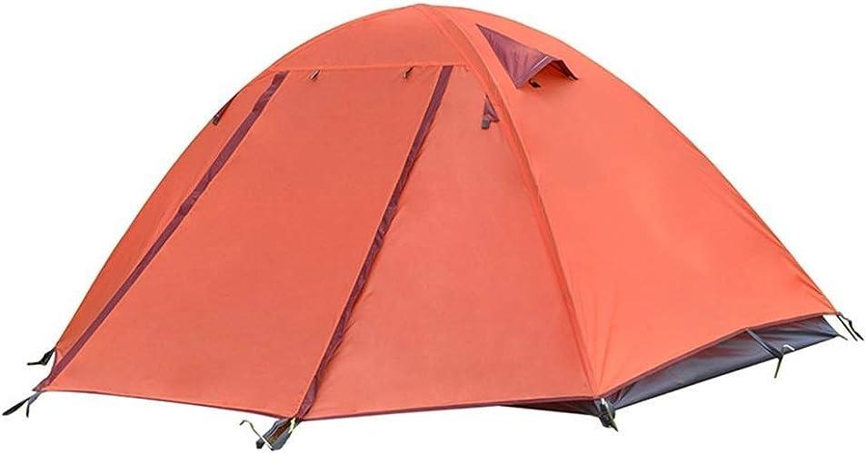 QTDS Tente extérieure 2 Double Camping en Double Tige en Aluminium légère Tente de Camping sur Le Terrain antipluie 140  225  115cm