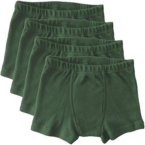 HERMKO 2900 4er Pack Jungen Pants - Reine Bio-Baumwolle, Größe:116, Farbe:Olive