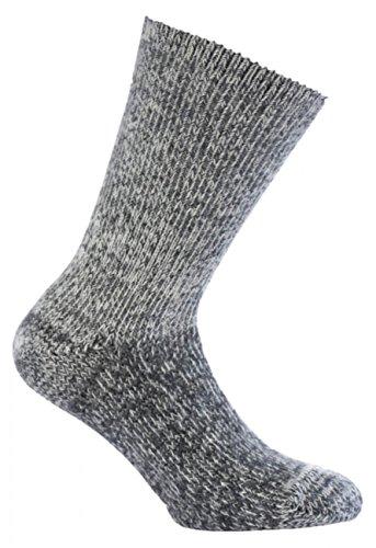 Woolpower 800 Socks Classic - Besonders warme Merino Socken , 43-45 , grey melange