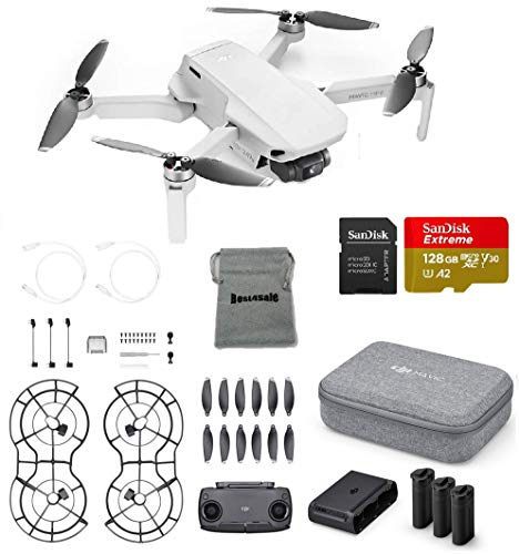 Price comparison product image DJI Mavic Mini Fly More Combo Drone FlyCam Quadcopter Bundle with SD Card and More