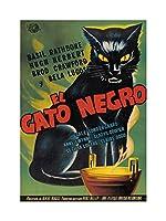 Movie Film Ad Black Cat Gato Negro Rathbone Wall Art Print 映画膜壁