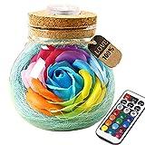 Murieo Kreative Seifenblume LED Nachtlicht Geburtstag Valentinstag Home Decor Nachtlichter &...