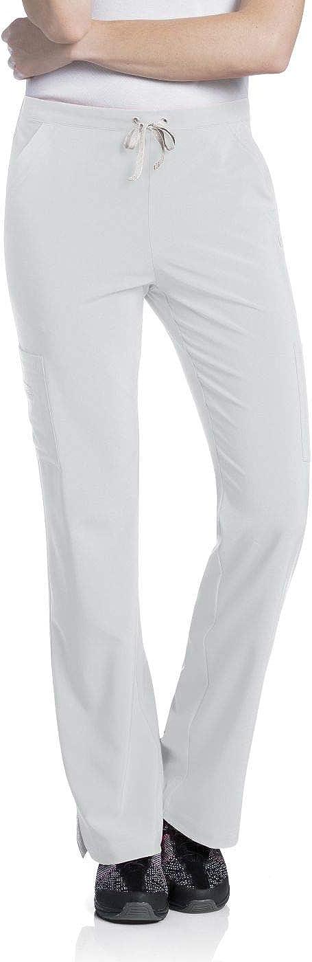 Urbane Elastic Waist Medical Long Beach Mall Scrub Pants Tall White M Popular overseas