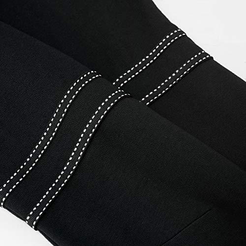 HOMEYEE Vestido de cóctel Retro de Manga 3/4 con Cuello Redondo Vintage para Mujer A135 (EU 40 = Size L, Negro-B)