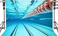写真撮影のためのHDサマープールの背景青い屋内スポーツ水泳フィットネスの背景室内装飾写真ブーススタジオ小道具7x5ftZYMT0435