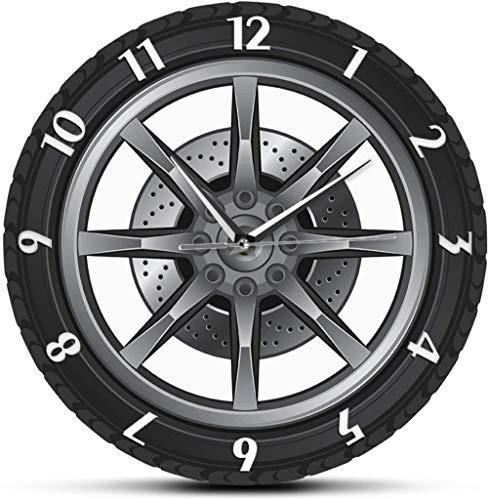 Reloj De Pared Servicio De Reparación De Automóviles Propietario De Garaje Llanta Rueda Coche Personalizado Automático Reloj Vintage Cool Mecánico Ideas De Regalos Para Taller De Automóviles
