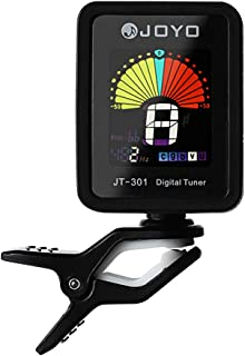 Guitar Tuner Clip-On Tuner Digital Electronic Tuner Acoustic with Full Color Display for Guitar, Bass, Violin, Ukulele (Black)