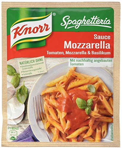 Knorr Spaghetteria Sauce Mozzarella Tomate, Mozarella und Basilikum (1 x 250 ml)