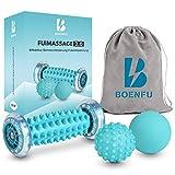 BOENFU - Juego de 3 rodillos de masaje de pies y rodillos para el masaje de pies...