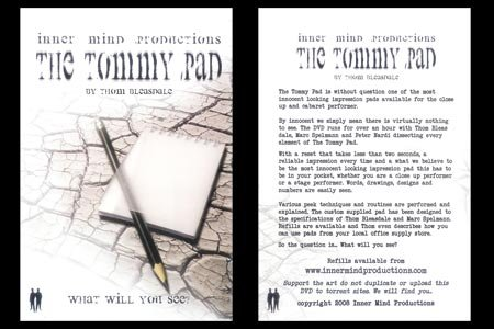 Tommy Pad by Inner Mind Productions - DVD