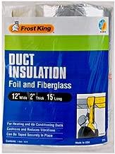 Frost King - Papel de aluminio y fibra de vidrio para envolver conductos, 2 x 1 x 15 pies, R-6
