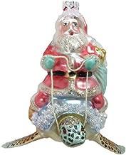 December Diamonds Glass Ornament - Santa on Turtle