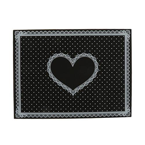 Nagel Art Care Opvouwbare Soft Lace Dot Patroon Siliconen Tafelkleed Handmat 3 Kleur - Zwart, 40 * 30 cm