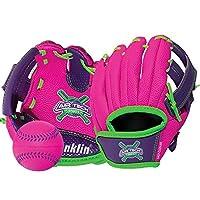 "Franklin Sports Air Tech Adapt Series 8.5"" Teeball Glove: Right Handed Thrower, Pink/Purple"