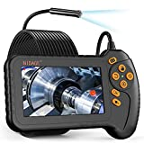 Industrial Endoscope with 5' Screen, NIDAGE 5.5mm Inspection Camera, 1080P HD Digital Borescope with Flashlight, 16.5FT Cable, Automotive Car Engine Sewer Pipe Endoscope Camera with 32GB Card, Toolbox