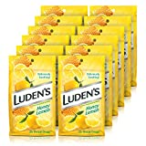 Luden's Deliciously Soothing Throat Drops, Honey Lemon Flavor, 25 Count, 12 Pack