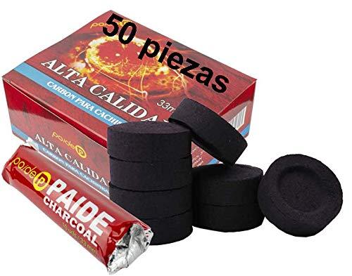 [Pack] Kohlerollen für Wasserpfeife, Shisha, Wasserpfeife, Wasserpfeife und Räuchergefäß (50)