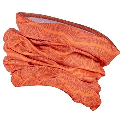YKW Pesca Bragas Bragas Variable Hombre Bufanda al Aire Libre de la Cara Dorsal Mujer a Caballo mágico Cabeza Bragas (Color : Orange)