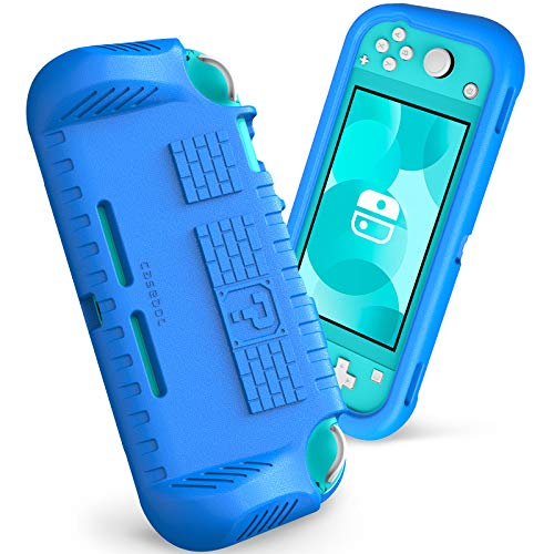 Fintie Kids Case for Nintendo Switch Lite 2019 w/2 Game Card Slots - [Ultralight] [Shockproof] Protective Cover with Ergonomic Grip, Kids Friendly Grip Case for Switch Lite Console, Blue