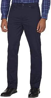 DKNY Men's Brushed Twill Pant Bedford Slim Straight - Navy Blazer - 34X34