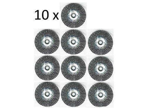 Grizzly 10er Set Fugenbürste für Elektrische Fugenbürste EFB 402 Metall/Draht/runde Drahtbürste/Metallbürste