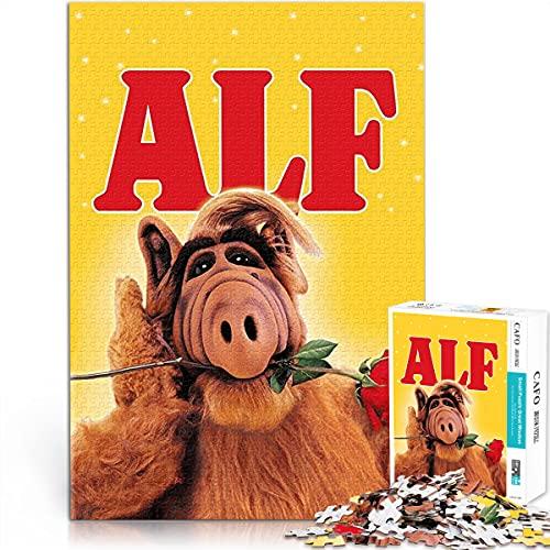 Puzzle 1000 Stück ALF Poster Tierrechte Freiwillige Armee Holzpuzzle Herausforderung Puzzle 38x52cm Familienspiel Spiel Stress abbauen