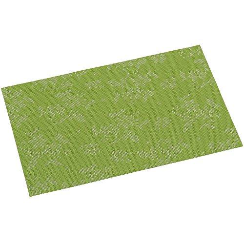 KESPER Set de Table en plastiqué en Flore Vert - Amende, Plastique, Multicolore, 43x29x0,1 cm