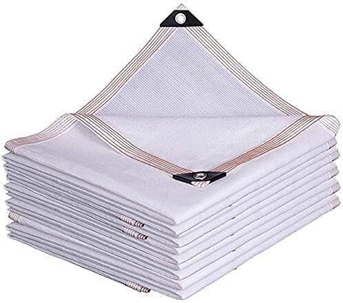 Toldos Impermeables Exterior Toldo, tasa de sombreado del 85%, sombrilla perforada, aislamiento de calor de malla engrosada de la sombrilla y acoplamiento carnoso, protector solar, perforación blanca