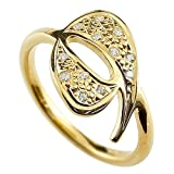 [アトラス] Atrus ナンバー 9 ナイン 数字 リング イエローゴールド K18 18金 指輪 ダイヤモンド 14号