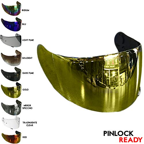 VRacing Visier Shoei Gt Air Helmvisier Gt air 2 II Neotec 1 Helm Cns-1 Aftermarket Pinlock Ready (Gold Chrome)
