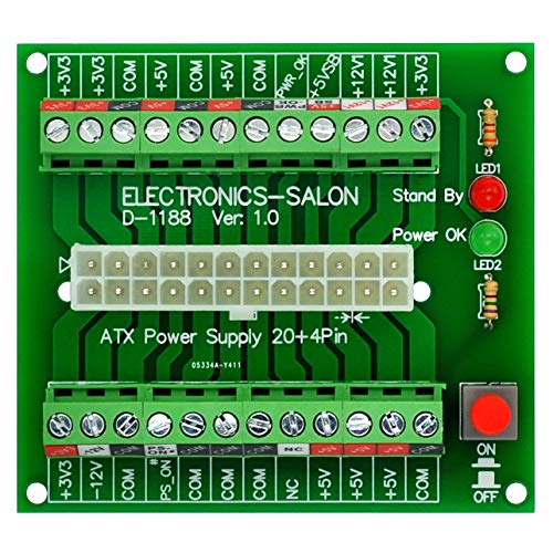 electronics-salon 24/20pin ATX DC Netzteil Breakout Board Modul.