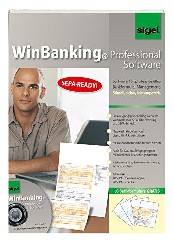 SIGEL SW235 WinBanking Professional, Software für Bankformular-Management, inkl. 60 Bankformulare - incl. SEPA
