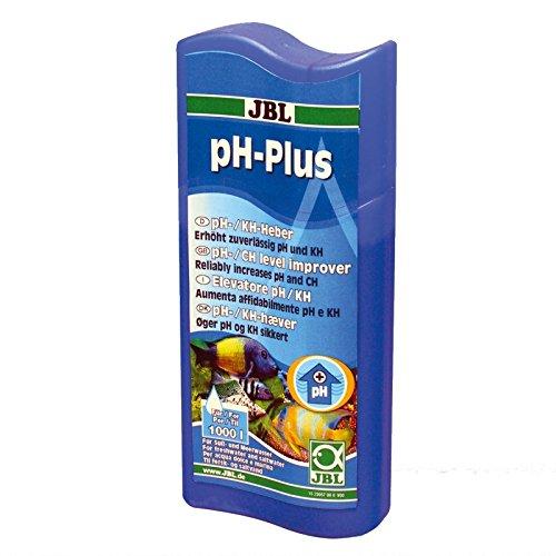 JBL ph-Plus 23057, Wasseraufbereiter zur Erhöhung der pH-Werte für Süß- und Meerwasser Aquarien, 250 ml