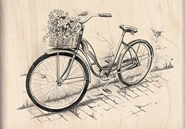 Inkadinkado Bicycle Wood Stamp by Inkadinkado