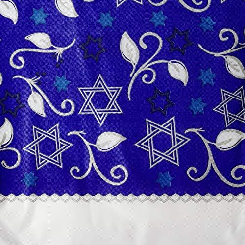 Amscan Joyous Hanukkah Plastic Table Cover, 54' x 102', 1 piece