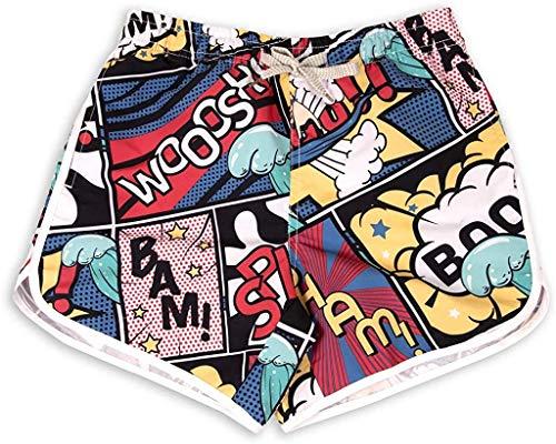 Damen Board-Shorts, schnelltrocknend, Stoff, schmal - - Small