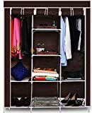 Ebee 6+2 Layer Fancy and Portable Foldable Collapsible Closet/Cabinet -Brown