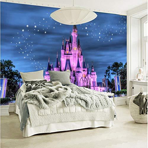 Makeyong Benutzerdefinierte 3D Fototapete Für Kinderzimmer Sofa Hintergrund Tapeten 3 D Cartoon Schloss Sternenhimmel Wohnkultur-250x175cm