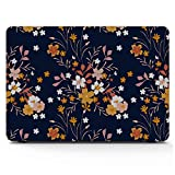 MacBook Accessories Spring Romantic Orange Flower Retro Plastic Hard Shell Compatible Mac Air 11' Pro 13' 15' MacBook Air Cases Protection for MacBook 2016-2019 Version