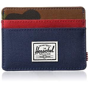 Herschel Charlie RFID, Navy/Woodland Camo/Red, One Size
