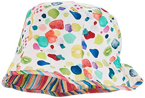 maximo Mädchen Hut Mütze, Mehrfarbig (Ecru-Bunte-Früchte 4645), (Herstellergröße: 53)