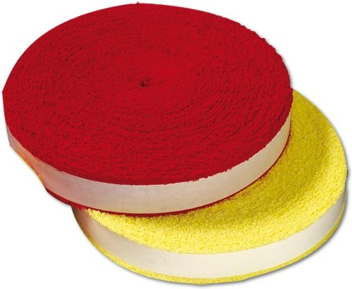 Victor Badminton Tennis Squash - 12 Meter Griffband Rolle - Frottee-Grip Reel Auswahl (Rot)