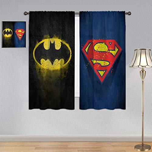 ARYAGO Black Out Cortinas de la Liga de la Justicia, cortina impermeable para ventana de dormitorio o sala de estar, 150 x 182 cm