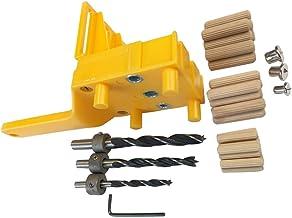 Kit de ferramentas para gabarito e cavilha, incluindo 30 peças de bucha de madeira, 3 brocas e chave inglesa