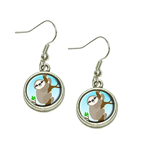 2f65e0bbb Sloth Just Hanging Around Dangling Drop Charm Earrings