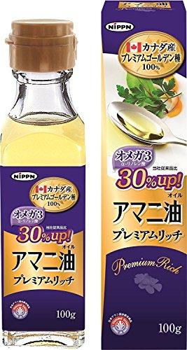 ニップン アマニ油 プレミアムリッチ 100g